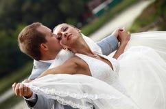ζευγάρι παντρεμένο πρόσφατ στοκ εικόνες