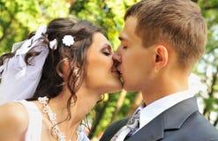 ζευγάρι παντρεμένο πρόσφα&tau Στοκ Εικόνα