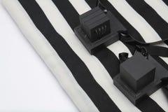 Ζευγάρι του tefillin, σύμβολο Α των εβραϊκών ανθρώπων, ένα ζευγάρι του tefillin με τα μαύρα λουριά, που απομονώνεται σε ένα άσπρο Στοκ φωτογραφία με δικαίωμα ελεύθερης χρήσης