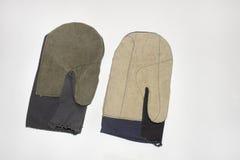 Ζευγάρι των γαντιών anvas Ñ  για τον Mason-οικοδόμο Στοκ Εικόνα