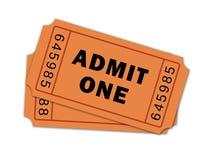 Ζευγάρι των εισιτηρίων θεάτρων Στοκ φωτογραφία με δικαίωμα ελεύθερης χρήσης