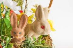 Ζευγάρι των κουνελιών Πάσχας Στοκ εικόνες με δικαίωμα ελεύθερης χρήσης
