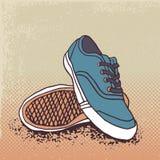 Ζευγάρι των πάνινων παπουτσιών ελεύθερη απεικόνιση δικαιώματος