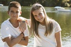 Ζευγάρι των παιδιών Στοκ Εικόνα
