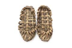Ζευγάρι των παπουτσιών ίνας ραφίας Στοκ Φωτογραφίες