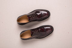 Ζευγάρι των παπουτσιών ξοντρών παπούτσεων ατόμων Στοκ φωτογραφία με δικαίωμα ελεύθερης χρήσης