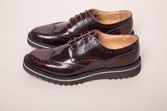 Ζευγάρι των παπουτσιών ξοντρών παπούτσεων ατόμων Στοκ Εικόνα