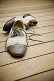 Ζευγάρι των παλαιών παπουτσιών χορού Στοκ φωτογραφία με δικαίωμα ελεύθερης χρήσης