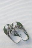 Ζευγάρι των πράσινων παντοφλών Στοκ φωτογραφία με δικαίωμα ελεύθερης χρήσης