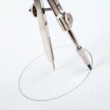 Ζευγάρι των πυξίδων που σύρουν τον κύκλο Στοκ Εικόνες