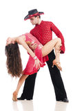 Ζευγάρι των χορευτών που απομονώνονται Στοκ Φωτογραφίες