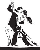 Ζευγάρι των χορευτών στο χορό αιθουσών χορού Στοκ Εικόνες