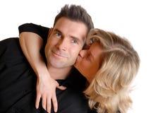 ζευγάρι φιλήματος Στοκ εικόνες με δικαίωμα ελεύθερης χρήσης