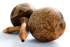 ζευγάρι maracas στοκ εικόνα με δικαίωμα ελεύθερης χρήσης