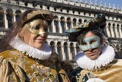 ζεύγη Βενετία καρναβαλι&o Στοκ Φωτογραφίες
