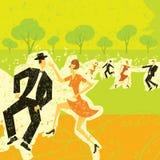 Ζεύγη που χορεύουν στο πάρκο Στοκ Φωτογραφίες