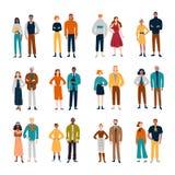 Ζεύγη των διαφορετικών ανθρώπων Φίλοι, ζευγάρια, επιχειρησιακοί συνάδελφοι απεικόνιση αποθεμάτων