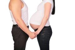 ζεύγος έγκυο Στοκ Φωτογραφίες