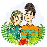 Ζεύγος Αγόρι και κορίτσι Στοκ Εικόνες