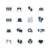 Ζεύγος, εικονίδια αγάπης καθορισμένα Στοκ φωτογραφίες με δικαίωμα ελεύθερης χρήσης
