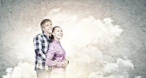 ζεύγος ευτυχές Στοκ Φωτογραφίες