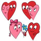 Ζεύγος ημέρας βαλεντίνων. καρδιά Στοκ Εικόνα
