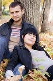 ζεύγος κοντά στο δέντρο Στοκ Εικόνα