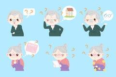 Ζεύγος με την ασθένεια του Alzheimer ελεύθερη απεικόνιση δικαιώματος
