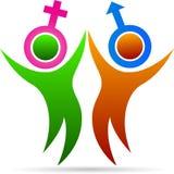 Ζεύγος με το σύμβολο φύλων Στοκ Φωτογραφία