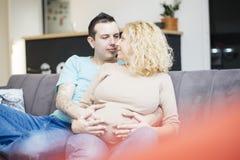 ζεύγος μωρών που αναμένει & Στοκ εικόνα με δικαίωμα ελεύθερης χρήσης