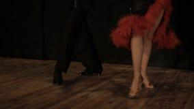 Ζεύγος, νέα όμορφη γυναίκα και χορός νεαρών άνδρων απόθεμα βίντεο