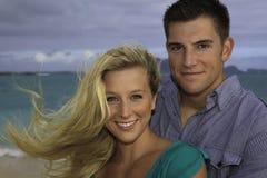 ζεύγος παραλιών wed πρόσφατα Στοκ φωτογραφίες με δικαίωμα ελεύθερης χρήσης