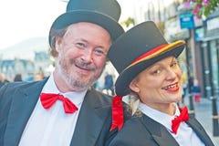 Ζεύγος που προσφέρει τα γαελικά μαθήματα Στοκ Φωτογραφία