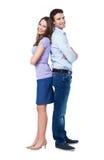 Ζεύγος που στέκεται πλάτη με πλάτη Στοκ φωτογραφία με δικαίωμα ελεύθερης χρήσης