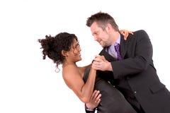 ζεύγος που χορεύει αρκετά στοκ φωτογραφίες