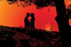 ζεύγος ρομαντικό διανυσματική απεικόνιση