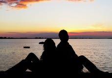 ζεύγος ρομαντικό στοκ εικόνες με δικαίωμα ελεύθερης χρήσης
