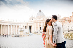 Ζεύγος στη Ρώμη Στοκ Εικόνες