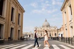 Ζεύγος στη Ρώμη Στοκ φωτογραφίες με δικαίωμα ελεύθερης χρήσης