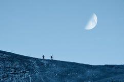 Ζεύγος στο βουνό Στοκ εικόνες με δικαίωμα ελεύθερης χρήσης