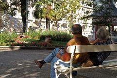 ζεύγος στο Meran Στοκ φωτογραφίες με δικαίωμα ελεύθερης χρήσης