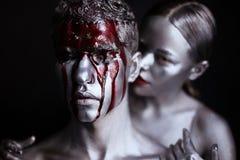 Ζεύγος τέχνης σωμάτων ασημιών και αίματος στοκ φωτογραφία με δικαίωμα ελεύθερης χρήσης