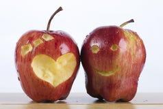 Ζεύγος της κόκκινης Apple Στοκ Φωτογραφία