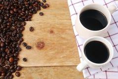 Ζεύγος του μαύρου καφέ Στοκ Εικόνες