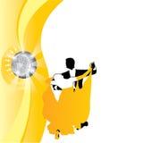 Ζεύγος υποβάθρου που χορεύει σε κίτρινο Στοκ φωτογραφία με δικαίωμα ελεύθερης χρήσης