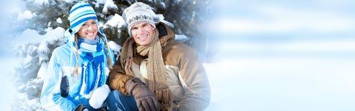 Ζεύγος χειμερινών Χριστουγέννων στοκ φωτογραφία