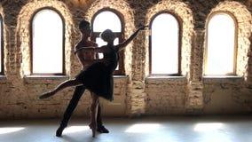 Ζεύγος χορού μπαλέτου απόθεμα βίντεο