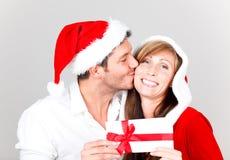 ζεύγος Χριστουγέννων εύ&thet Στοκ Φωτογραφία
