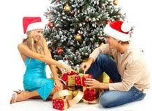 ζεύγος Χριστουγέννων Στοκ φωτογραφίες με δικαίωμα ελεύθερης χρήσης