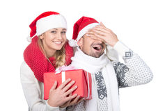 ζεύγος Χριστουγέννων Στοκ Εικόνα